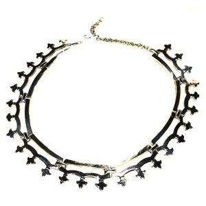Vtg fleur de lis necklace stainless steel necklace